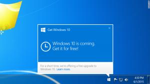 Windows 10 popup